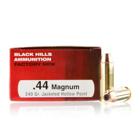 Image For 50 Rounds Of 240 Grain JHP Boxer Brass 44 Magnum Black Hills Ammunition Ammunition