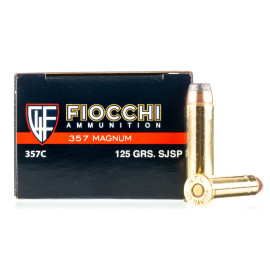Image For 50 Rounds Of 125 Grain SJSP Boxer Brass 357 Magnum Fiocchi Ammunition