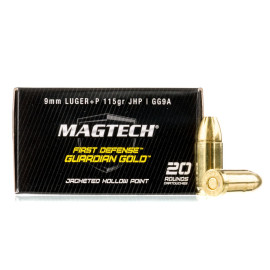 Image For 20 Rounds Of 115 Grain JHP Boxer Brass 9mm Magtech Ammunition