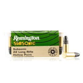 Image For 100 Rounds Of 38 Grain LHP Rimfire Brass 22 LR Remington Ammunition