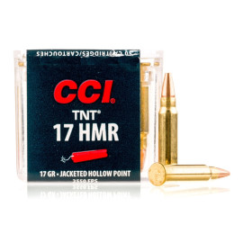 Image For 50 Rounds Of 17 Grain HP Rimfire Brass 17 HMR CCI Ammunition