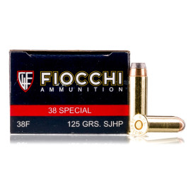 Image For 50 Rounds Of 125 Grain SJHP Boxer Brass 38 Special Fiocchi Ammunition