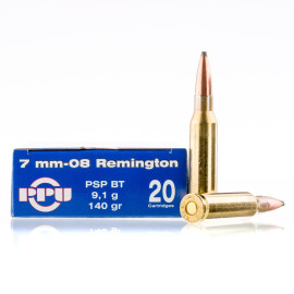 Image For 20 Rounds Of 140 Grain SP Boxer Brass 7mm-08 Rem Prvi Partizan Ammunition