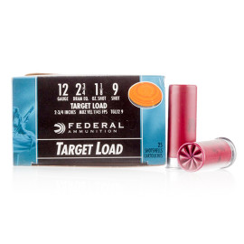 Image For 25 Rounds Of 1-1/8 oz. #9 Shot 12 Gauge Federal Ammunition