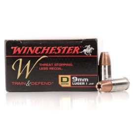 Image For 200 Rounds Of 147 Grain JHP Boxer Nickel-Plated Brass 9mm Winchester Ammunition
