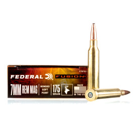 Image For 20 Rounds Of 175 Grain Fusion Boxer Brass 7mm Rem Magnum Federal Ammunition