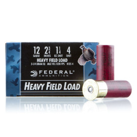 Image For 25 Rounds Of 1-1/4 oz. #4 Shot 12 Gauge Federal Ammunition