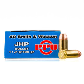 Image For 50 Rounds Of 180 Grain JHP Boxer Brass 40 Cal Prvi Partizan Ammunition