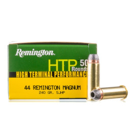 Image For 500 Rounds Of 240 Grain SJHP Boxer Brass 44 Magnum Remington Ammunition