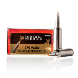 Image For 20 Rounds Of 130 Grain Polymer Tipped Boxer Brass 270 Win Short Mag Federal Ammunition