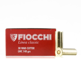 Image For 50 Rounds Of 148 Grain LWC Boxer Brass 38 Special Fiocchi Ammunition