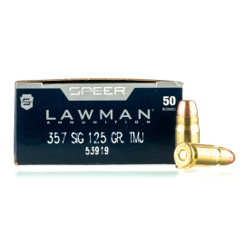 Image For 50 Rounds Of 125 Grain TMJ Boxer Brass 357 Sig Speer Ammunition