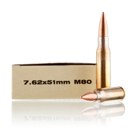 Image For 20 Rounds Of 145 Grain FMJ-BT Boxer Brass 308 Win Prvi Partizan Ammunition