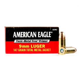 Image For 1000 Rounds Of 147 Grain TMJ Boxer Brass 9mm Federal Ammunition
