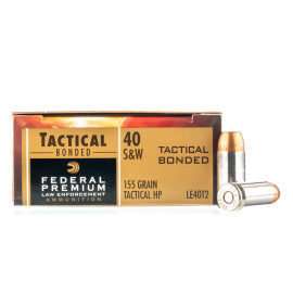 Image For 50 Rounds Of 155 Grain JHP Boxer Nickel-Plated Brass 40 Cal Federal Ammunition