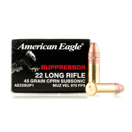 Image For 50 Rounds Of 45 Grain CPRN Rimfire Brass 22 LR Federal Ammunition