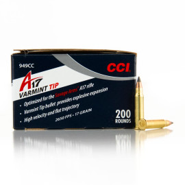 Image For 200 Rounds Of 17 Grain Polymer Tipped Rimfire 17 HMR CCI Ammunition
