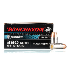 Image For 50 Rounds Of 95 Grain JHP Boxer Nickel-Plated Brass 380 ACP Winchester Ammunition