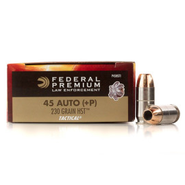 Image For 50 Rounds Of 230 Grain JHP Boxer Nickel-Plated Brass 45 Auto Federal Ammunition