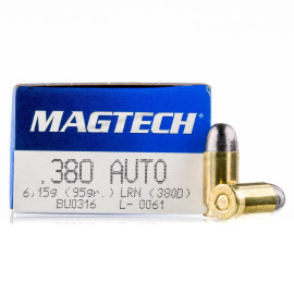 Image For 50 Rounds Of 95 Grain LRN Boxer Brass 380 ACP Magtech Ammunition