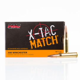 Image For 20 Rounds Of 168 Grain OTM Boxer Brass 308 Win PMC Ammunition
