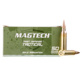 Image For 50 Rounds Of 62 Grain FMJ Boxer Brass 5.56x45 Magtech Ammunition