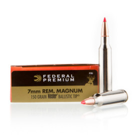 Image For 20 Rounds Of 150 Grain Nosler Ballistic Tip Boxer Brass 7mm Rem Magnum Federal Ammunition