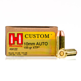 Image For 20 Rounds Of 155 Grain JHP Boxer Brass 10mm Hornady Ammunition