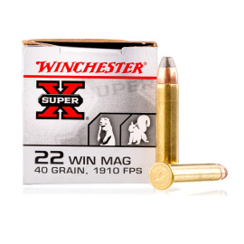 Image For 50 Rounds Of 40 Grain JHP Rimfire Brass 22 WMR Winchester Ammunition
