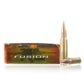 Image For 20 Rounds Of 150 Grain Fusion Boxer Brass 308 Win Federal Ammunition