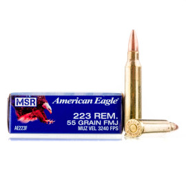 Image For 20 Rounds Of 55 Grain FMJ Boxer Brass 223 Rem Federal Ammunition