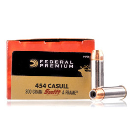 Image For 20 Rounds Of 300 Grain JHP Boxer Nickel-Plated Brass 454 Casull Federal Ammunition