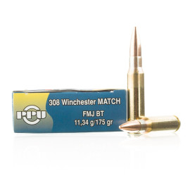 Image For 20 Rounds Of 175 Grain FMJ-BT Boxer Brass 308 Win Prvi Partizan Ammunition
