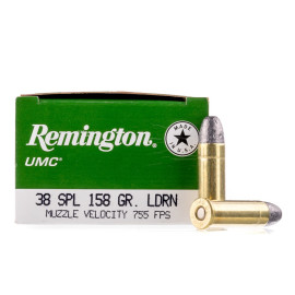 Image For 500 Rounds Of 158 Grain LRN Boxer Brass 38 Special Remington Ammunition