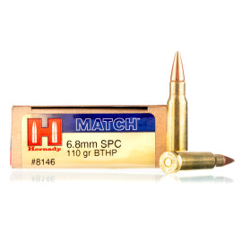 Image For 20 Rounds Of 110 Grain SPBT Boxer Brass 6.8 SPC Hornady Ammunition