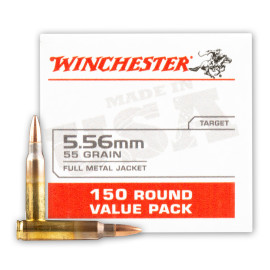 Image For 150 Rounds Of 55 Grain FMJ Boxer Brass 5.56x45 Winchester Ammunition