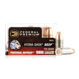 Image For 20 Rounds Of 135 Grain JHP Boxer Nickel-Plated Brass 9mm Federal Ammunition