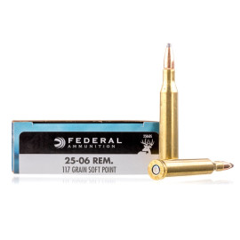Image For 20 Rounds Of 117 Grain SP Boxer Brass 25-06 Federal Ammunition