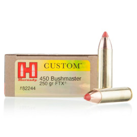 Image For 20 Rounds Of 250 Grain FTX Boxer Brass 450 Bushmaster Hornady Ammunition