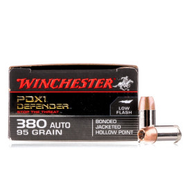 Image For 20 Rounds Of 95 Grain JHP Boxer Nickel-Plated Brass 380 ACP Winchester Ammunition