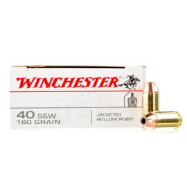 Image For 500 Rounds Of 180 Grain JHP Boxer Brass 40 Cal Winchester Ammunition