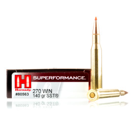 Image For 20 Rounds Of 140 Grain SST Boxer Brass 270 Win Hornady Ammunition