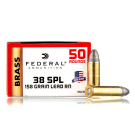 Image For 50 Rounds Of 158 Grain LRN Boxer Brass 38 Special Federal Ammunition