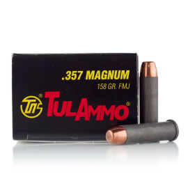 Image For 1000 Rounds Of 158 Grain FMJ Boxer Steel 357 Magnum TulAmmo Ammunition