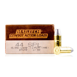 Image For 50 Rounds Of 240 Grain LFN Boxer Brass 44 S&W Special Magtech Ammunition