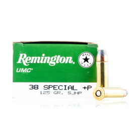 Image For 50 Rounds Of 125 Grain SJHP Boxer Brass 38 Special Remington Ammunition