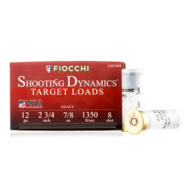 Image For 250 Rounds Of 7/8 oz. #8 Shot 12 Gauge Fiocchi Ammunition