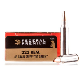 Image For 20 Rounds Of 43 Grain HP Boxer Brass 223 Rem Federal Ammunition