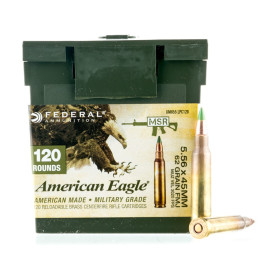 Image For 120 Rounds Of 62 Grain FMJ Boxer Brass 5.56x45 Federal Ammunition
