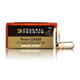 Image For 20 Rounds Of 147 Grain JHP Boxer Nickel-Plated Brass 9mm Federal Ammunition